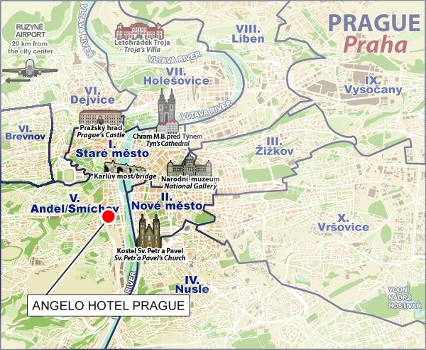 Come arrivare hotel angelo prague praga for M hotel prague